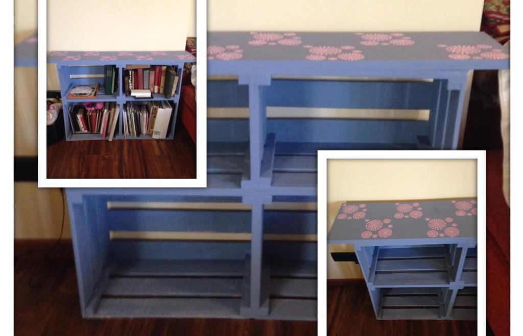 Mueble con cajas de fruta for Muebles con cajas de fruta